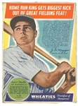 Joe DiMaggio 1938 Wheaties Panel