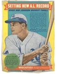 Bob Johnson 1939 Wheaties Panel