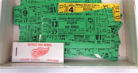 Lot of 1979 and 1980 Red Wings Tickets