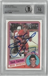 Steve Yzerman BAS 10 Autographed Topps Rookie Card