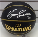 Dominique Wilkins Autographed Black Basketball