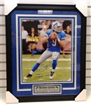 Matthew Stafford Autographed Framed 16x20 Photo