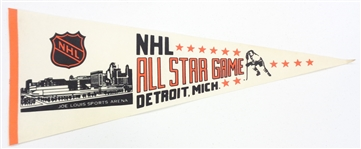 1980 NHL All Star Game Pennant - Gretzkys 1st Howes Last