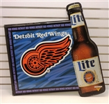 Detroit Red Wings 32x34 Miller Lite Metal Sign (pick up only)