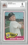 Mickey Mantle BVG 6 1965 Topps Card