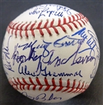 1984 Detroit Tigers 39 Signature Team Ball