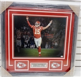 Patrick Mahomes Autographed Framed 16x20 Photo