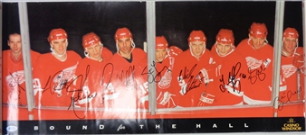 Bound for the Hall Poster Signed by 9 Red Wings Hall of Famers