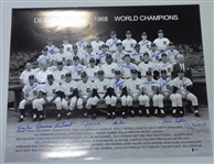 1968 Detroit Tigers 16x20 Signed by 25
