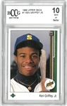Ken Griffey Jr. BCCG 10 1989 Upper Deck Rookie Card