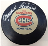 Maurice Richard Autographed Canadiens Puck